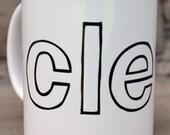 CLE love ceramic mug