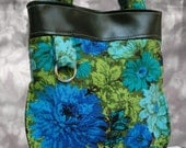 SALE Betty Black and Blue Tote