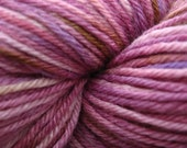 BLUEBERRY BUCKLE - Hand Painted Wool\/Silk Sock Yarn - Suzannah