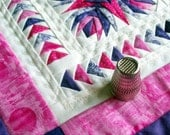 True Miniature Quilt - Pink and Purple Pineapple Star