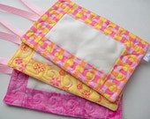 Pink Lemonade Quilted Luggage Tags