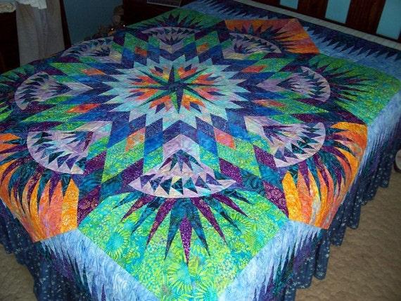 Special Price Hawaiian Star Batik Star Quilt