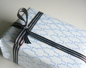 SALE - Jigsaw giftwrap - sky on white