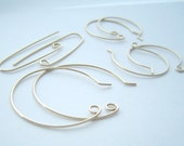 handcrafted goldfill earwires sample pack of four pairs