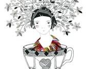 Garden Heart - Print