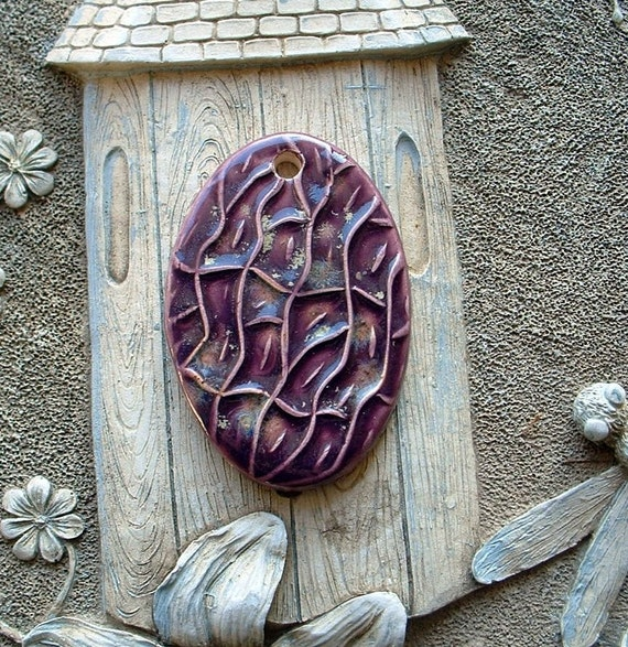 Purple River Ceramic Clay Pendant