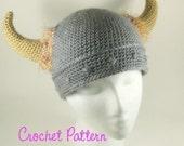 Crochet Pattern: Barbarian Viking Beanie