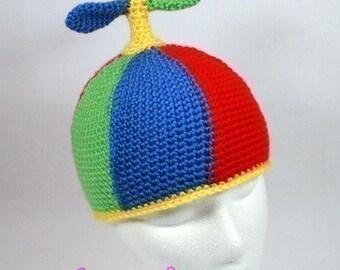 Crochet Pattern: Smart Hat Propeller Beanie