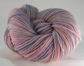 pink lilac kettle dyed alpaca yarn - 300 yards