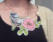 Flora and Fawna, audaciously awesome fabric necklace