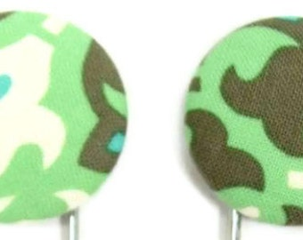 Set of 2 Jumbo Paperclips in Mosaic Green