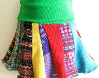 SALE - THREE Child Sized Sweater Skirts - Grab Bag