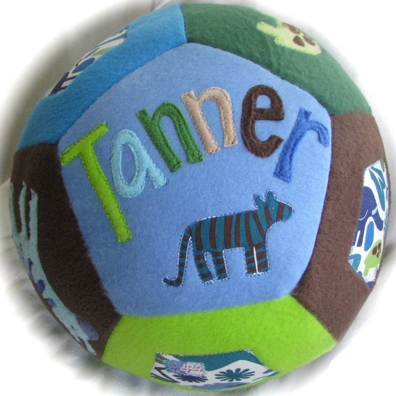 Zoo Themed Giant Personalized Ball - Alexander Henry 2d Zoo