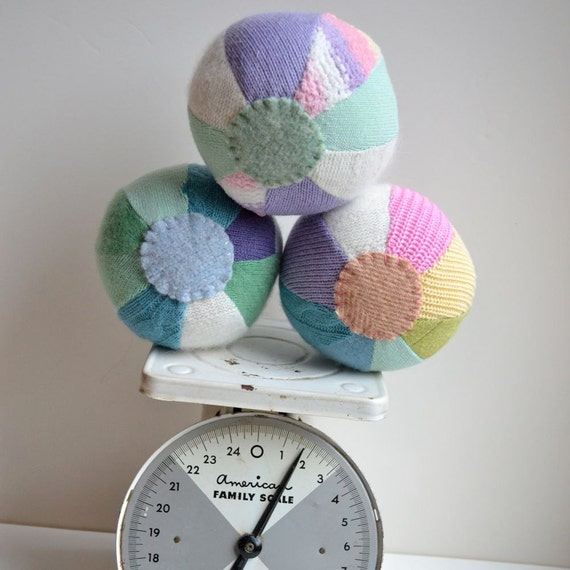 Mini Sweater Balls - Pastels - Set of Three