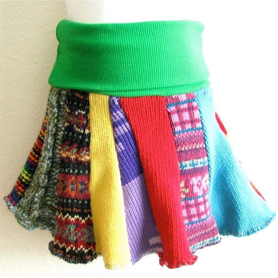 SALE - THREE Child Sized Sweater Skirts - Grab Bag