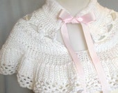 Jane Eyre Victorian Style Capelet in White
