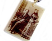 Bearded Lady PENDANT .. steampunk circus sideshow
