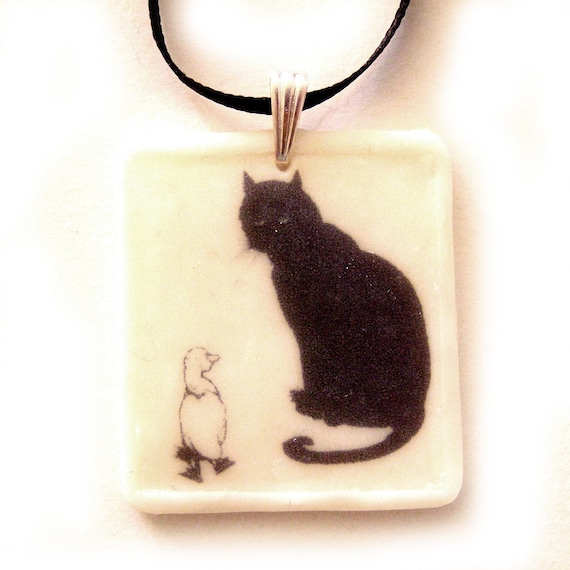 The Cat and the Ugly Duckling PENDANT