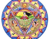 3rd Chakra Mandala Card Solar Plexus Nahbi meditation wall art yoga poster chakra art chakra mandalas