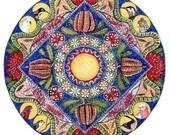 Set of 5 Landscape Mandala Greeting Cards - Ocean Wildflowers Desert Rainforest and Bushland