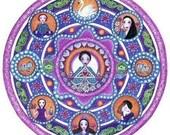 Libra art strology Mandala Greeting Card blank meditation yoga wall decor zodiac art