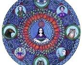 Scorpio Astrology Mandala Art Greeting Card zodiac art print november birthday gift for friend zodiac mandalas