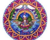 Set of 7 Chakra Mandala Greeting Cards Blank Inside Healing Art Mandala Art Gift for Yoga Teacher Seven Chakra Cards Meditation Art Yoga Art