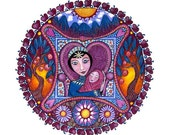 The Empress Tarot Mandala Art Print Healing Art meditation yoga tarot card print