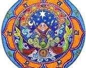 2nd Chakra Mandala Card - Swadhistan art seven chakras chakra mandala art mermaids yoga meditation print