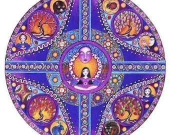 Set of 12 Astrology Mandala Greeting Cards - Aries Taurus Gemini Cancer Leo Virgo Libra Scorpio Sagittarius Capricorn Aquarius Pisces