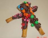 Chocolate Covered Pretzel Rods - One Dozen