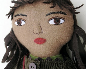 Autumn Girl wool doll