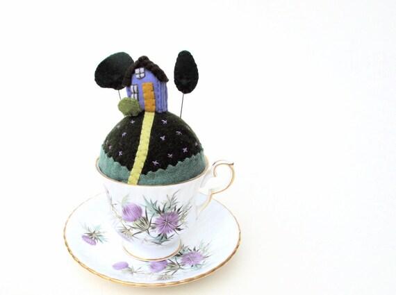 Thistle Tiny World Pincushion