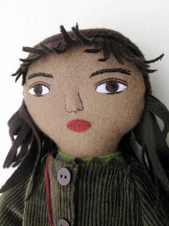 Autumn Girl wool doll