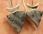 Drusy Triangles Earrings