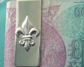 Fleur d lis Money Clip