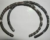 2 Wrought IRON Steel  Bracelet