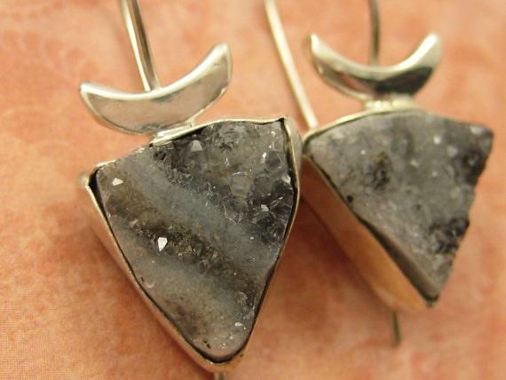 Drusy Triangles Earrings