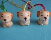 Porcelain Golden Retriever Puppy Ornament