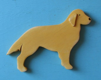 Golden Retriever Rustic Shelf Dog Decoration