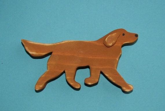 MiNi Golden Retriever Rustic Wood Dog Decoration