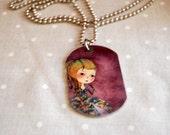 Marie Antoinette pendant   -Art Tags FREE SHIPPING