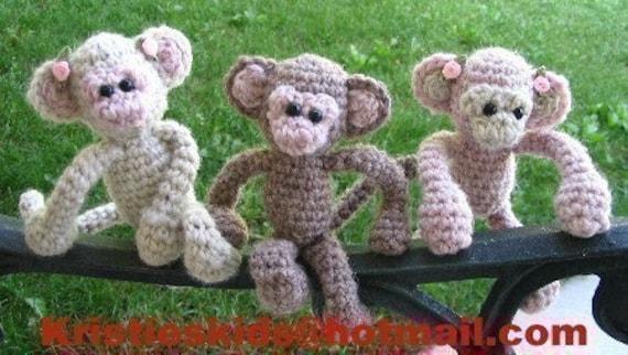 Micro Monkeys Crochet pattern