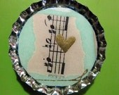 Musical Love Note, magnet