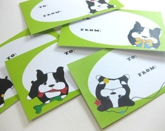 Boston Terrier Gift Tags - Boss-T and the Holidays GTBT001