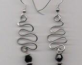 Silver Wire Work Earrings