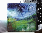 Original 6x6 Acrylic Landscape Painting On Canvas - The Inlet