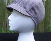 Grey Wool Plaid Cap