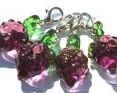 Blackberry Crochet Stitch Markers - set of four