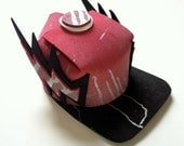 Dangerland Mini Hat - Red/ Black/ White - Lightning Bolt